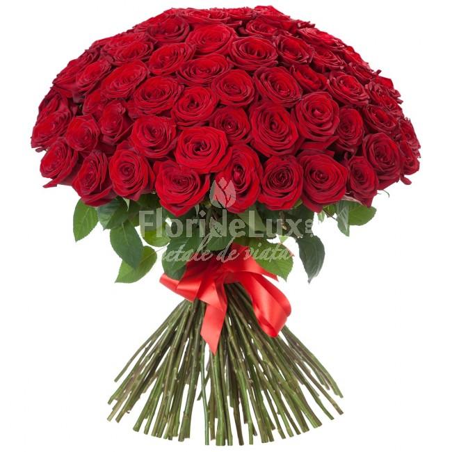 101 trandafiri 8 martie, 119 trandafiri rosii
