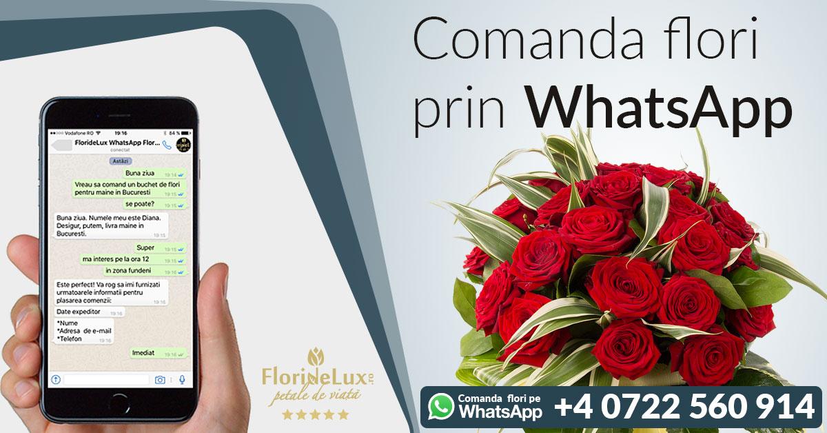 Comanda flori 8 martie pe WhatsApp