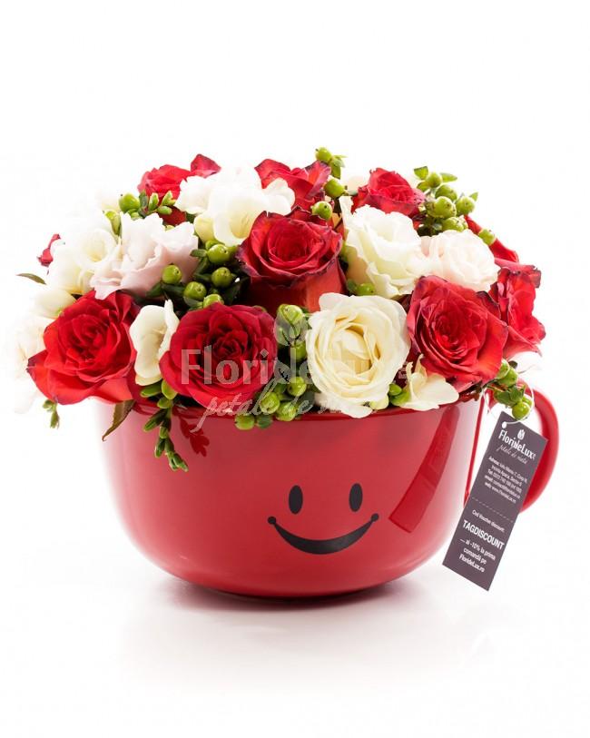 flori cu mesaje de 8 martie cana cu zambete