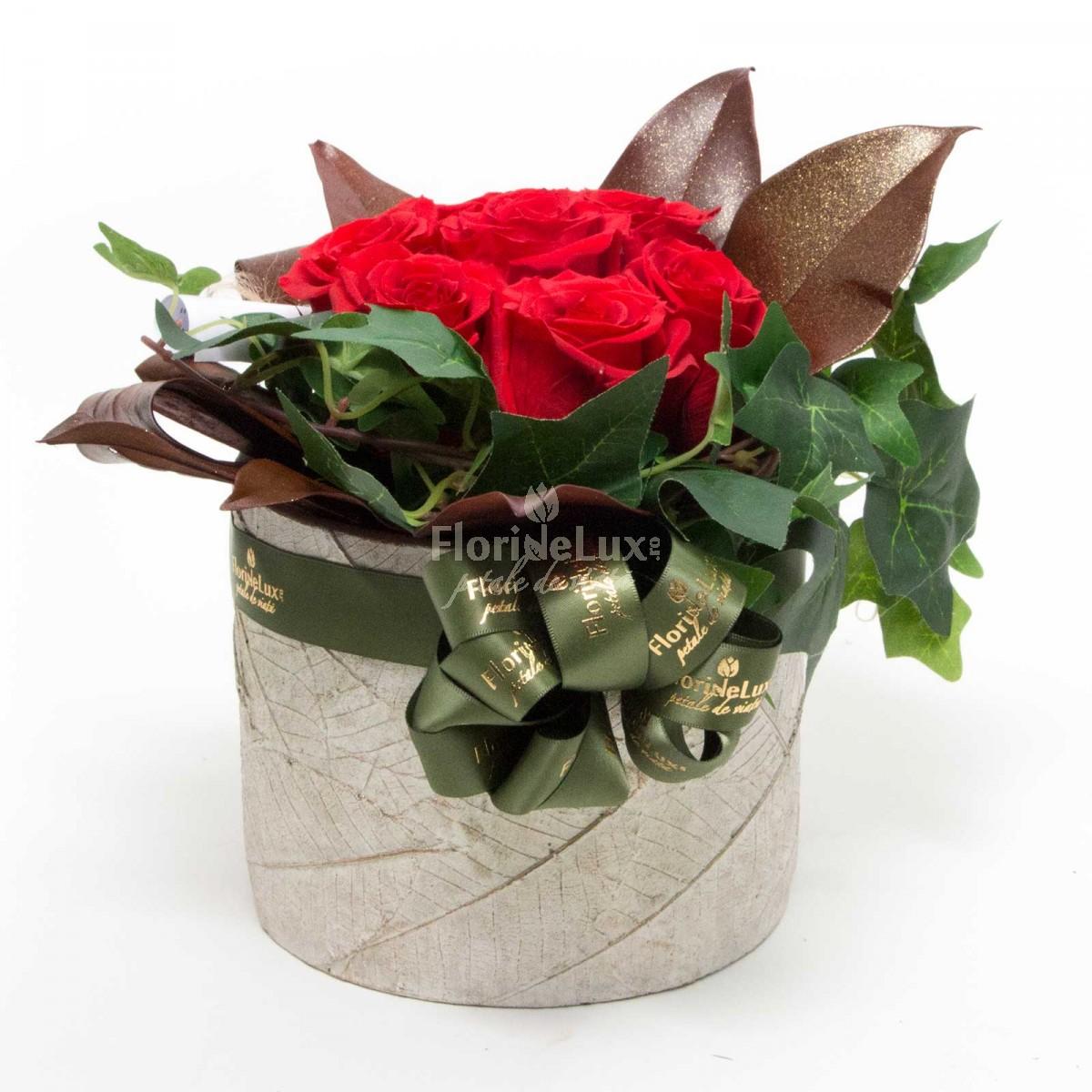 aranjament trandafiri criogenati